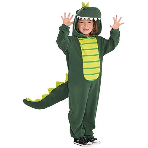 amscan 9902084 Combinaison avec capuche et queue de dinosaure, multicolore, 1 ct