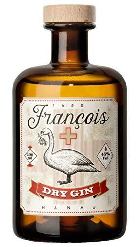 Francois Hanau Dry Gin - Gin aus der Heimat des Erfinders - 1 x 0,5 L