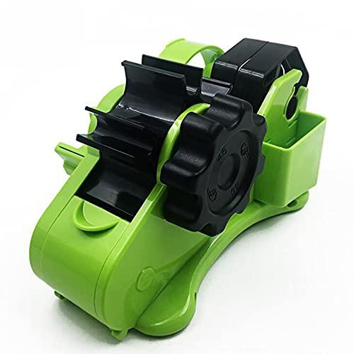 Dispensador de cinta automático, Rueda de agua Dispensador de cinta adhesiva, Dispensador de cinta Empaquetadora de cinta multifuncional semiautomática Cortador de cinta - green||35mm