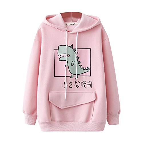 Qigxihkh Fashion Women Casual Print Long Sleeve Splice Dinosaur Sweatshirt...