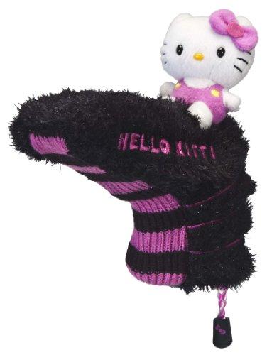 Hello Kitty Couvre-lit de Golf Mix and Match, Femme, HC-HKG.MM.BP.B/P, Noir/Rose
