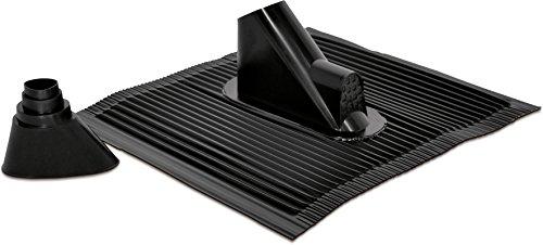 TechniSat Alu Dachziegel Set (mit Gummitülle zur wasserdichten Mast- und Kabeldurchführung 450 x 500mm) schwarz