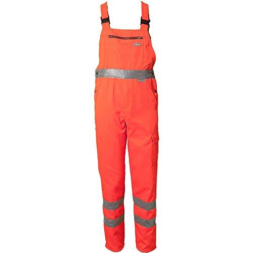 Planam Latzhose Warnschutz, Größe 27, 1 Stück, orange, 2021027