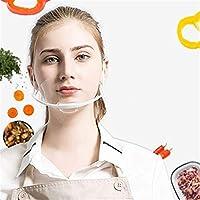 レストラン、タトゥー、アートメイク、ケータリング、フランチャイズレストラン、フードデモンストレーター、美容スキンケアクッキング、サービング、医療、歯科用10PCSプロフェッショナル透明サニタリーカバーマスク (Color : Clear)
