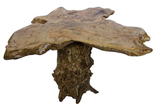 Origineller Holztisch Natur Wurzeltisch Stamm Jackfruchtholz H:62cm B:90cm T:62cm