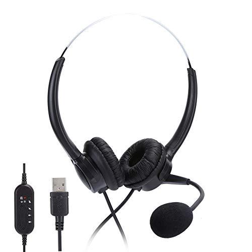 Socobeta Headset Wired Earphone Headphone Professional Customer Service USB Telephone Communication Ergonomic Design for Gaming Audio‑Visual headsets