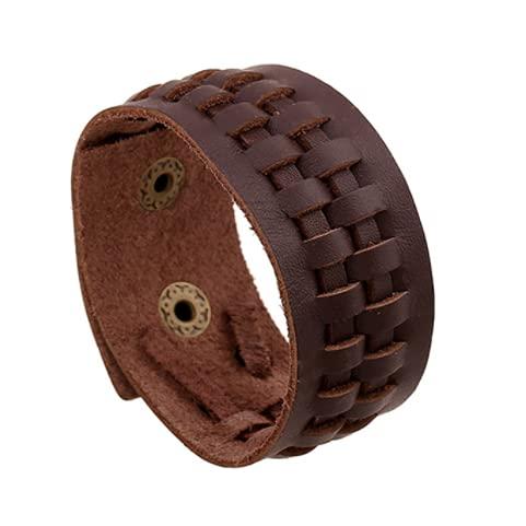 Fashion Double Cinturón De Cuero Muñeca Amistad Grande Ancho Pulsera para Hombres Hebilla Vintage Joyería,p