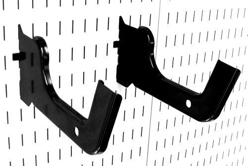 Wall Control Heavy Duty Pegboard Hook Slotted Hook Pair - Slotted Metal Pegboard Heavy-Duty Hooks for Wall Control Pegboard and Slotted Tool Board - Black