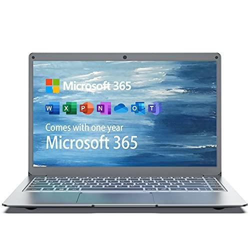 Jumper Notebook 13,3 Pollice FHD Microsoft 365, 4GB RAM, 64GB eMMC , CPU Intel Celeron, Pc Portatile Windows 10, HDMI, Membrana Della Tastiera Italiana,Supporta SSD da 1 TB, Espansione TF da 256GB
