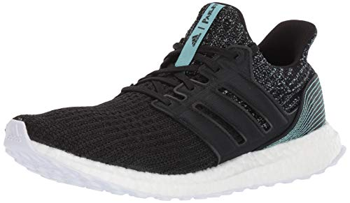 adidas Men's Ultraboost Parley Running Shoe, Black/White, 7 M US