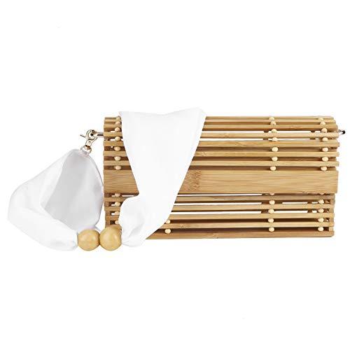 Bolso de ratán, Elegante Bolso de bambú, Hecho a Mano para Vacaciones en la Playa