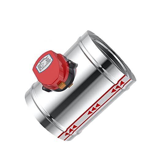 Válvula electromagnética Válvula de retención motorizada de la válvula eléctrica del amortiguador de 2010 compatible con el tubo de 3/4 / 5/6 / 8 pulgadas 80/100 / 125/150/200 / 250mm 220V 12V 24V Vál