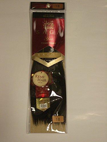 Saga Gold Remy Yaky 10 S' Color '1B' 100% Premium Human Hair