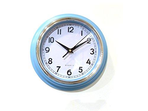 Deet® Horloge murale vintage de cuisine Bleu