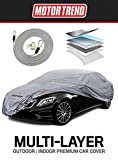 Motor Trend M5-CC-3 L (7-Series Defender Pro-Waterproof Car Cover for All Weather-Snow, Wind, Rain & Sun-Ultra Heavy Multiple Layers-Fits Up to 190')