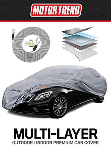 "Motor Trend M5-CC-3 L (7-Series Defender Pro-Waterproof Car Cover for All Weather-Snow, Wind, Rain & Sun-Ultra Heavy Multiple Layers-Fits Up to 190"")"