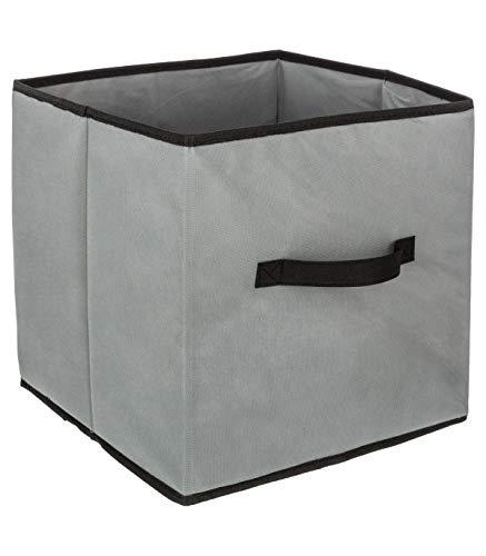 Boite cube de rangement gris 31x31cm