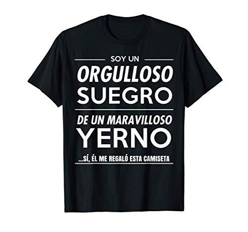 Mens Camiseta Graciosa de Regalo para Suegro de Yerno Camiseta