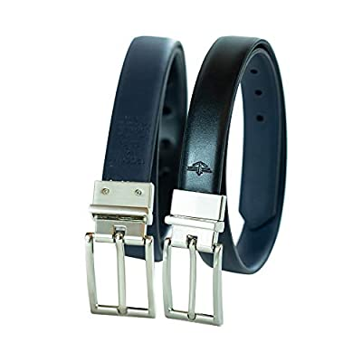 Dockers Big Boy's Reversible Dress Belt , black/navy, Small (22-24 Inches)