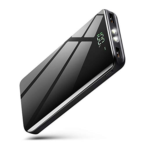 AnEgoe Power Bank 25000mAh Portable Charger Compact Dual Ports Ultra High Speed Battery Pack Phone Charger Backup Battery with Intelligent LCD Compatible with iPhone,Samsung,Tablet and More