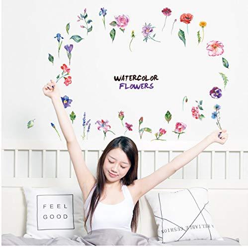 hfwh wandstickers, cupcboard flower keuken, koelkast, PVC, wandsticker, klein, 30 x 60 cm