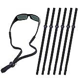 Sunglass Strap, Sports Glasses Band, Adjustable Sun Glasses Cord Lanyard Neck Holders for Men Women Kids, Multipack, Black