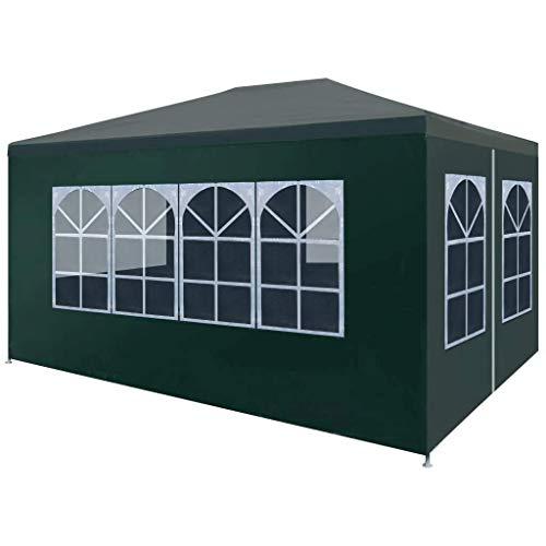 vidaXL Tente de Réception 3x4 m Vert Jardin Terrasse Patio Pavillon Tonelle
