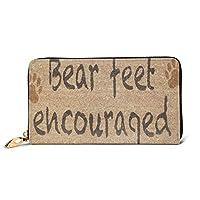 クマの足を奨励 財布 本物の牛革 長財布 おしゃれ ジッパー財布 メンズ レディース 人気 コインケース 高級感 小銭入れ 祭り 贈り物