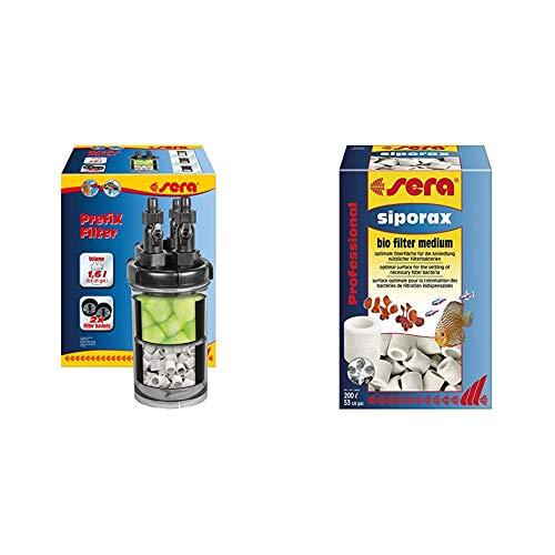 sera Prefix Filter EIN Vorfilter, Biofilter und Schnellfilter zum Anschluss an eine Pumpe BZW. Außenfilter am Aquarium & siporax Professional 15 mm 1.000 ml