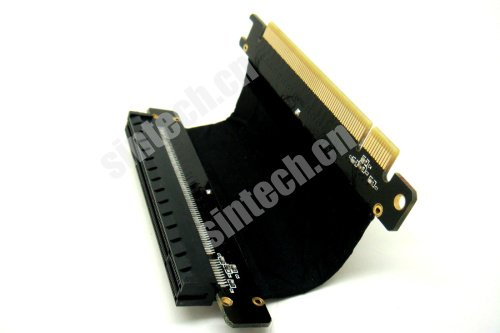 PCI-E Express x16 Riser Extend Karte mit 5 cm High Speed Flex Kabel