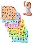 Extra soft home/machine washable,reusable napkins for babies. Good quality, skin friendly, anti allergic hankey for newborn, infants ,toddlers, kids ,girls &boys Can be used to keep face & body clean when your little kiddo eats,drools or dribbles. Di...