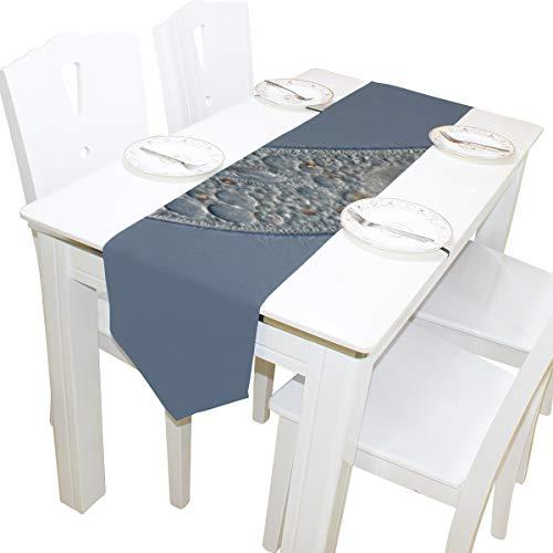 Yushg Leben Herkunft Paramecium Kommode Schal Stoffbezug Tischläufer Tischdecke Tischset Küche Esszimmer Wohnzimmer Home Hochzeitsbankett Dekor Indoor 13x90 Zoll
