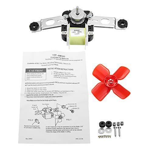 MJJEsports 482731 Verdamper met ventilator, motorkit, koeler, verdamper, vrieskast, ventilator, motor voor Whirlpool Sears