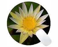 蓮の花神聖な精神的なアートワーク賭博ラウンドマウスパッドカスタム - 蓮の滑り止めラバーベースマウスパッド