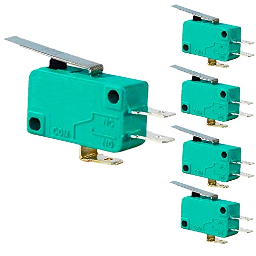 E8450620 - Pack x5 Micro switch fin de carrera on-on 10a 250v