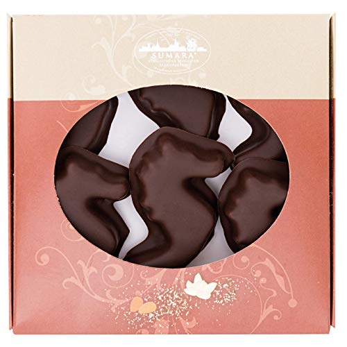 Stralsunder Marzipanseepferdchen mit Zartbitterschokolade 100g