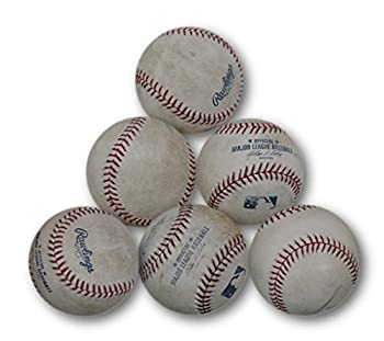 6  Six  Count Lot Of Game Used Baseballs Used in a Game At Dodgers Stadium