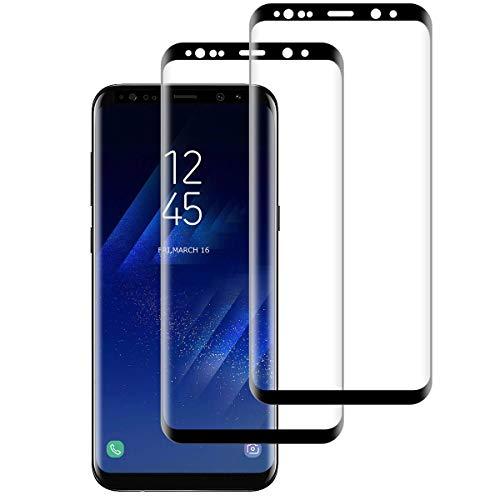Aspiree 2-Unidades Samsung Galaxy S8 Protector Pantalla, Cristal Templado para Samsung Galaxy S8, [Anti-arañazos 9H Dureza Sin Burbujas] Vidrio Templado Samsung Galaxy S8