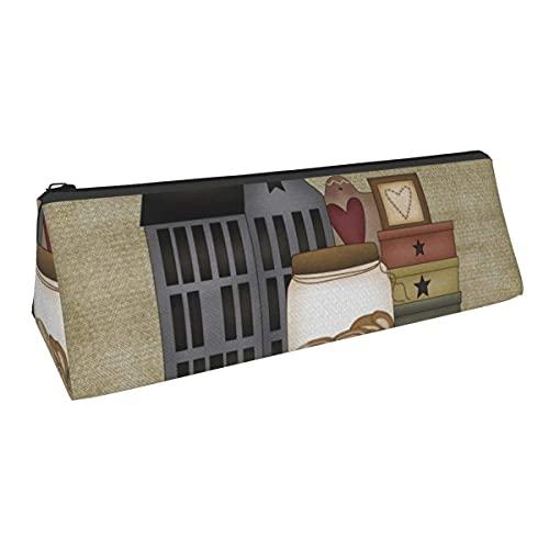 Primitive Country Whimsies - Bolsa de almacenamiento para bolígrafos de pequeña capacidad para niños y niñas, escuela, escuela, oficina, alicates de papelería