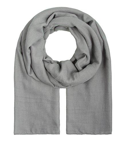 """Majea Tuch Aurora"""" großes Damen-Halstuch XXL Schal Damen Tuch Halstuch einfarbig uni unisex unifarben Schals und Tücher, Grau, 180x105"""