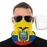 Bandera de Ecuador Bandera Nacional de Ecuador para hombre y mujer, bufanda, pasamontañas, pañuelo multifuncional para ciclismo, correr, escalada, senderismo