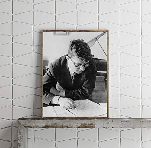Foto: Dmitri dmitriyevich Shostakovich, compositor de Rusia, músico, pianista, artista, 1942