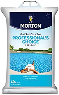 Morton Salt F134660000 Pro Pool Salt, 40 lb