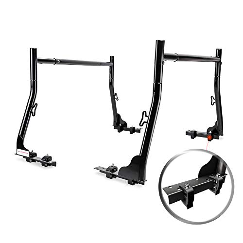 AA-Racks X31 Truck Rack with (8) Non-Drilling C-Clamps Pick-up Truck Utility Ladder Rack Black