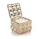 Caja de Maquillaje Cuadrada de Cristal,Porta Brochas de Maquillaje de Cristal, Caja de Maquillaje de Cristal, Se Utiliza para Guardar la Esponja de Maquillaje
