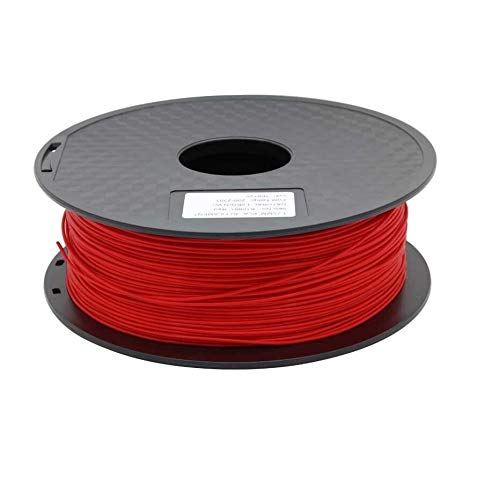 without XXF-dyjhc, Zonestar Shipping From Russia 3D printer filament PLA 1.75mm plastic Consumables Material 28 Colors 1KG/Roll (Color : Red)