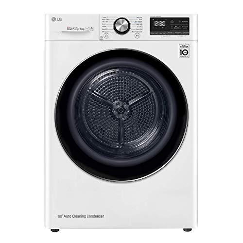 LG RC80V9AV2W - Secadora 8kg, A+++(-10%), Blanca, Serie 7