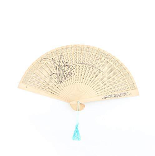 QJXSAN Chinesische Hand Fans - Bevorzugungen Hauptdekoration Partei -Baby Dusche Geschenke & Hochzeit (2/5/10 Packung) Orchidee (Size : 10pcs)