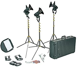 Lowel PRO Power Tungsten LED 3-Light AC Kit, Includes 3X LED Light, 3X 8' Light Stand, Case, Softbox, Assorted Gels, Gel Frame, 27
