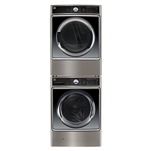 Kenmore Front-Load Washer & Electric Dryer Bundle in Metallic Silver- Works with Alexa, includes delivery and hookup